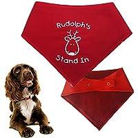 Spoilt Rotten Pets (S2 Rudolph 's Ständer in Weihnachten Dog Bandana–alle Rassen Größen erhältlich von Tiny Chihuahua bis Extra groß Neufundländer Hund