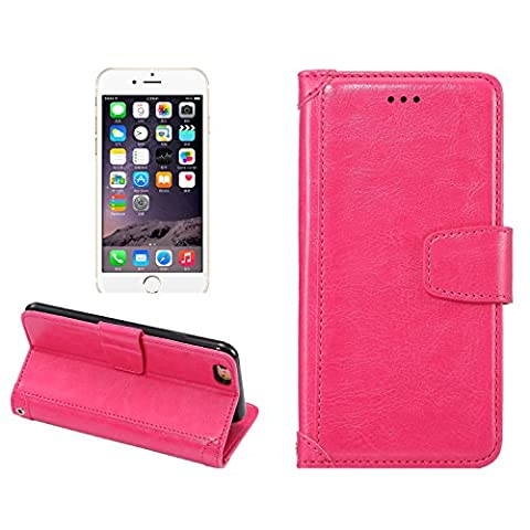 iPhone 6/6S Fall, lindacase iPhone 6/6S Schutzhülle, Fancy Design klar Muster, Ultra Slim Frosted Leder Flip Wallet Schutzhülle für iPhone (mit gehärtetem Glas Displayschutzfolie gratis) (6/6S) rosa rose 6/6s