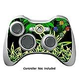 GameXcel ® Xbox 360 Controller Skin - Schutz Vinyl-Aufkleber für X360 nehmen drahtlose Game-Controller - X3 Controller Abziehbild - Weeds Black [Controller nicht enthalten]
