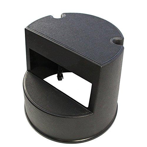 Chaise pliante QFFL Repose-Pieds Mobile Noir/Augmenter l'échelle d'étape/Tabouret créatif de Steppin 40 * 34 Cm Tabouret d'extérieur