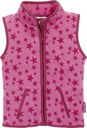0d32fa1d34 Playshoes Mädchen Weste Fleeceweste Allover Sterne, Oeko-Tex Standard 100,  Rosa (Pink