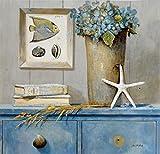 quadri & cornici hb Arnie Fisk Saint Tropez Botanical stampa su legno,pannello mdf,bordo nero,