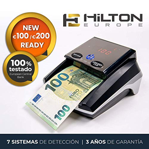 HILTON EUROPE HE-300SD Detector de Billetes Falsos actualizable con 7 sistemas...