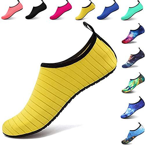 Aqua Shoes Escarpines Hombres Mujer Niños Zapatos de Agua Zapatillas Ligeros  de Secado Rápido para Swim e075960e6b64