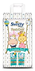 Sweety Fit Pantz Gold Series Baby Diapers (Size: XL Count 32)