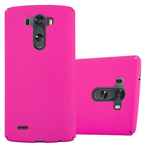 Preisvergleich Produktbild Cadorabo Hülle für LG G3 - Hülle in Frosty PINK – Hardcase Handyhülle im matten Frosty Design - Schutzhülle Bumper Back Case Cover