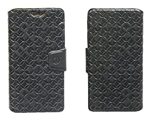 J Cover Vachetta Series Leather Pouch Flip Case With Silicon Holder For HTC Sensation XL Black