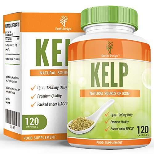 Kelp-600mg-Sea-Kelp-Seaweed-is-a-Potent-Source-of-Iodine-Rich-in-Vitamins-Minerals-Maximum-Strength-Supplement-for-Men-Women-Suitable-for-Vegetarians-120-Capsules-4-Months-Supply-by-Earths-Design