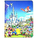 New Kids Cartoon Disney Princess Frozen Elsa Anna Snow Man Flip Folio Stand up Cover Case For Apple ipad Tablets / tab (iPad 5 Air, Disney Family)