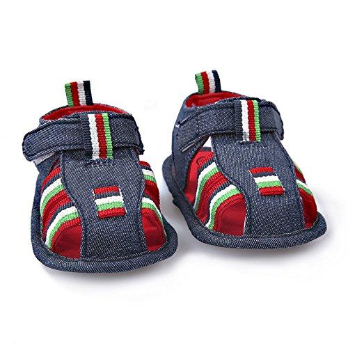 Swallowuk Neugeborenes Kleine Kinder Baby Jungen Mädchen Sandale Schuhe Sandale Schuhe (12cm, blau)