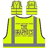 Die Grafik Superb lustige Neuheit perfektes Geschenk Personalisierte High Visibility Gelbe Sicherheitsjacke Weste d88v