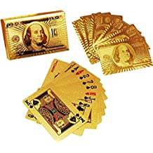 Gooyo 24 K Gold Plated Poker Playing Cards (Golden)