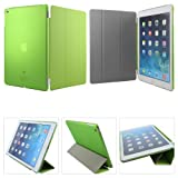 DMG Ultra Thin Magnetic Smart Case Clear Back Cover Stand for Apple iPad Air (Green)