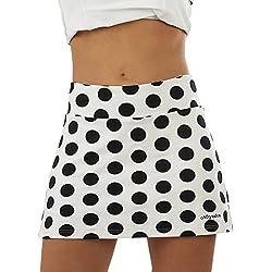a40grados Sport & Style Fusion Lunar Falda de Tenis, Mujer, Blanco, 40