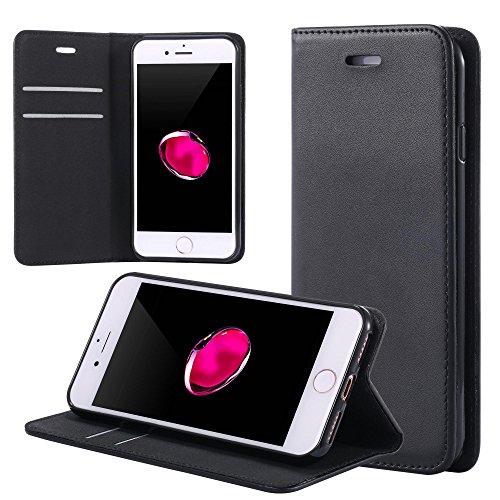 ECENCE Handyhülle Schutzhülle Case Cover kompatibel für HTC Desire 728G Handytasche Schwarz 12010309