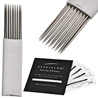Microblading Blades Shading Needles 17 Pin x20 Eyebrows Disposable Tattoo Needles Tools by CRYSTALUM®