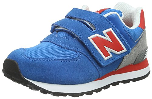 New Balance KG574 Unisex-Kinder Sneakers Mehrfarbig (Blue/Grey/Orange)