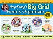Amy Knapp's Big Grid Family Organizer Aug. 2014 - Dec. 2015 17-Month Calendar