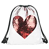 Sirena paillettes coulisse zaino Glittering Outdoor borsa a tracolla, Magic reversibile Dance bag Fashion Bling Shining, borsa sportiva zaino, Love