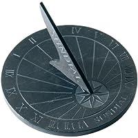 Thorness Grandes Reloj de sol de pizarra, redondo? 25cm Diámetro