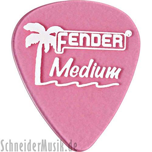 Fender California Clear Guitar Picks 12-Pack Burgundy Mist Medium