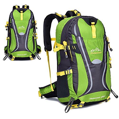 BYD - 45L Unisex Rucksäcke Im Freien Wandern Klettern Freizeit Trekkingrucksäcke Outdoor Taschen Radfahren Reiten Reisetaschen wasserdicht Backpack Grün