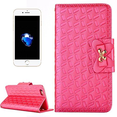 iPhone Case Cover Pour iPhone 7 Bowknot Embossing Horizontale Flip étui en cuir avec Holder & Card Slots & Wallet ( Color : Gold ) Magenta