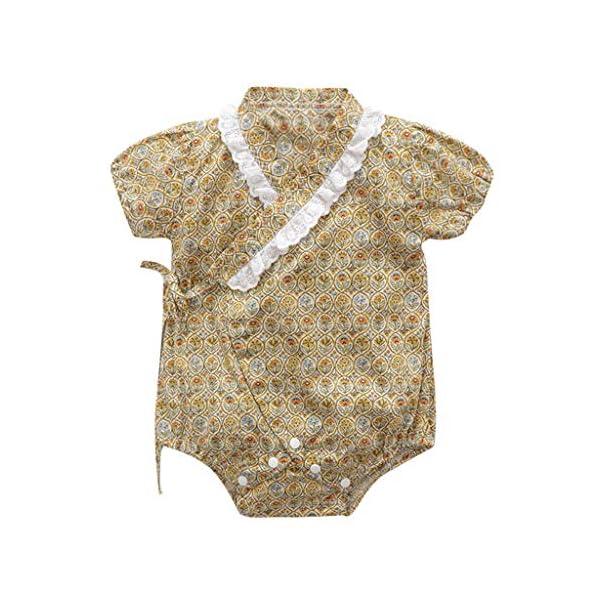 HEETEY Pijama para niña, para recién Nacidos, de Manga Corta, diseño Floral, Mono, sin Mangas, de una Sola Pieza, para… 1