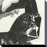 1art1 78833 Star Wars - Darth Vader Portrait Zeichnung Poster Leinwandbild Auf Keilrahmen 30 x 30 cm