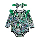 EARS Babybekleidung Ears Toddler Infant Baby Girl Boy Newborn Baby Girls Long Sleeve Halloween Cartoon Skull Romper Jumpsuit (3 – 18Monate)