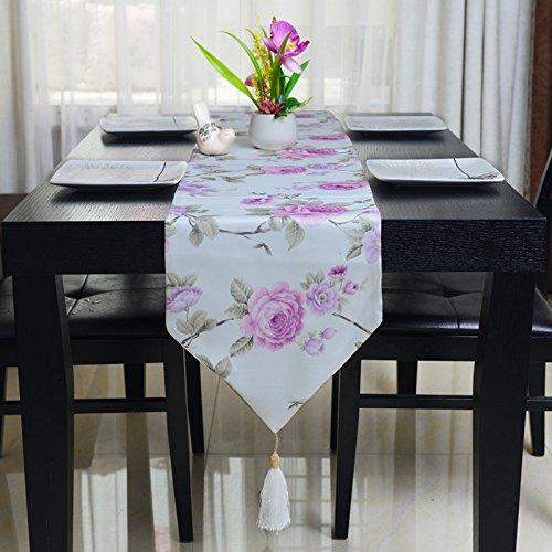 GGCCX Tischläufer Die Neuen Pastoralen Kleinen Floralen Tischläufer Pink Pink Floral Tischläufer