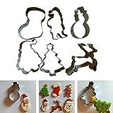 Navidad Cortadores Galletas Invierno Moldes para Galletas 6 Piezas Acero Inoxidable