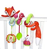 SKK Baby Fox Plush Spiral Activity Toy Pram and Travel Toy