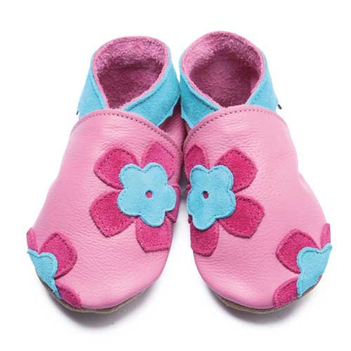 Inch Blue - 1693 XL - Chaussures Bébé Souples - Freya - Rose Moyen - T 22-23 cm