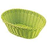 Saleen Mehrzweck-Korb, Gastrotauglich, Oval, 26 x 18,5 x 9 cm, Kunststofffaser, Lime, 02093437101