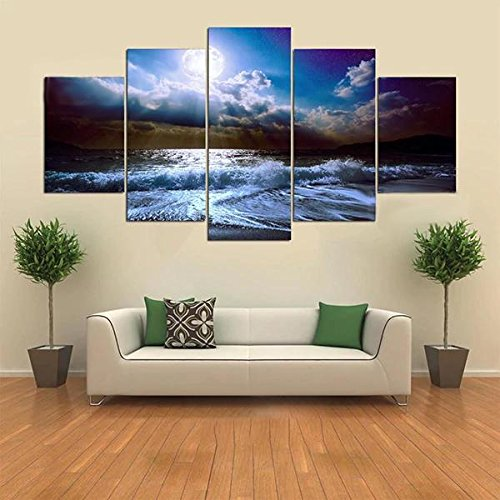 EgBert 5 Cascade The Blue Sky River Wall Painting Home Decoration Without Frame Including Installa -