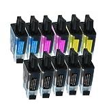 11 Druckerpatronen Tinte für Brother DCP 110C DCP 115C DCP 120C MFC 210C MFC 215C ersetzen LC-900
