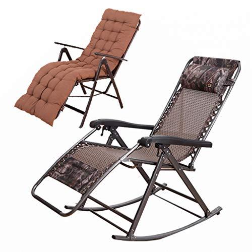 Klappstühle Alter Mann Schaukelstuhl Siesta Stuhl Home Stuhl Schwangere Frauen Mittagspause Recliner Kissen Gepolsterte Einzigen Stuhl