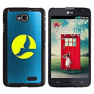 Smartphone Étui rigide Couverture Housse coque téléphone portable pour LG Optimus L70 / LS620 / D325 / MS323 / CECELL Phone case / / Full Moon Dove /