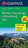 Wiener Hausberge - Schneeberg - Rax: Wanderkarten-Set mit Naturführer in der Schutzhülle. GPS-genau. 1:25000: 2-delige Wandelkaart 1:25 000 (KOMPASS-Wanderkarten, Band 228) -