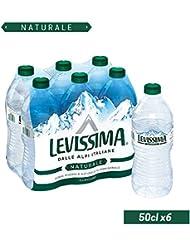 Levissima Acqua Minerale Naturale - Confezione da 6 Bottiglie x 500 ml