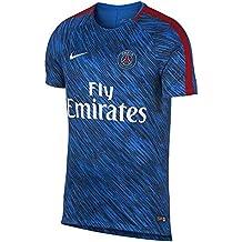 Nike PSG M NK Dry Sqd SS GX, Camiseta de fútbol para hombre, Hombre, Psg M Nk Dry Sqd Ss Gx, Hyper Cobalt/Hyper Cobalt/Rush Red/Bianco, Large