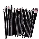 Leisial 20PCS Professional Pinsel Make-up Pinsel Set Kosmetik Pinsel Set Lidschatten Make-up Pinsel Set,Schwarz