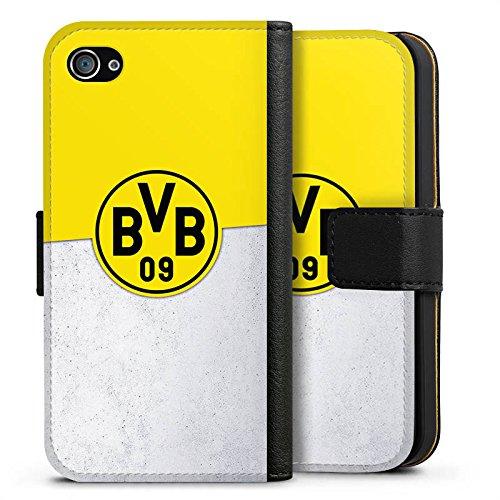 Apple iPhone X Silikon Hülle Case Schutzhülle Borussia Dortmund Fanartikel BVB Sideflip Tasche schwarz