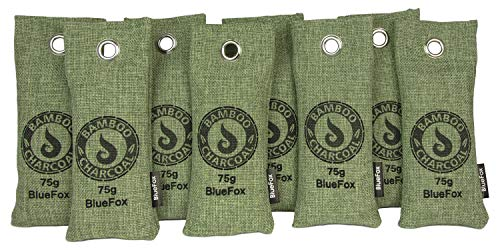 BlueFox 8er Set 75g Aktivkohle Luftreiniger Anti-Schimmel