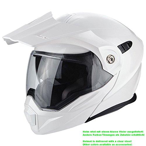 Scorpion Casco Moto ADX-1, Pearl White, L
