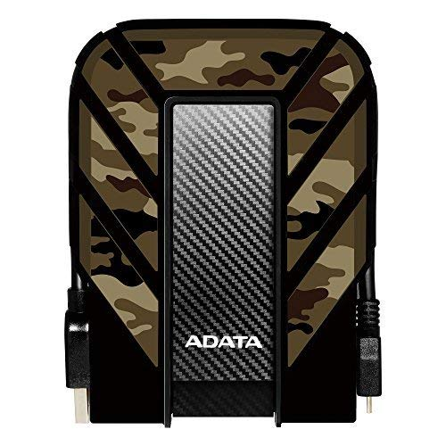 ADATA HD710M Pro 2TB Military-Grade Shockproof External Hard Drive (AHD710MP-2TU31-CCF, Camouflage)