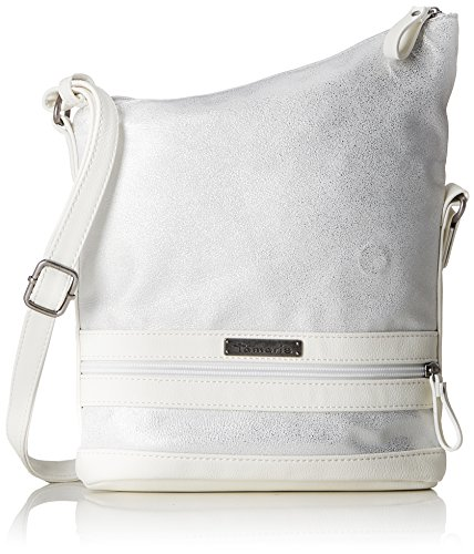 Tamaris Damen Smirne Crossbody Bag Umhängetasche, Weiß (White Comb) 23,5x7,5x22 cm