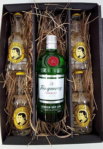 gin-tonic-set-geschenktset-tanqueray-london-dry-gin-70cl-473-vol-4x-thomas-henry-tonic-water-200ml