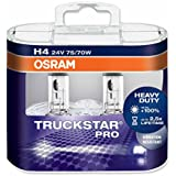 OSRAM TRUCKSTAR PRO H4, Halogen-Scheinwerferlampe, 64196TSP-HCB, 24V NKW, Duobox (2 Stück)